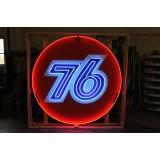 "New ""76"" Gasoline Neon Sign 72"" Diameter"