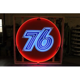 "New ""76"" Gasoline Neon Sign 72"" Diameter"