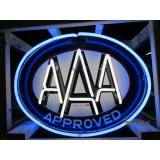 "Old AAA Approved Double Sided Porcelain Sign with Neon 30""x24"" - DSPN"