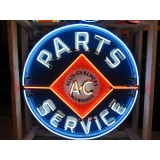"New Single-Sided Allis Chalmers Parts Service Neon Sign - 48"" Diameter"