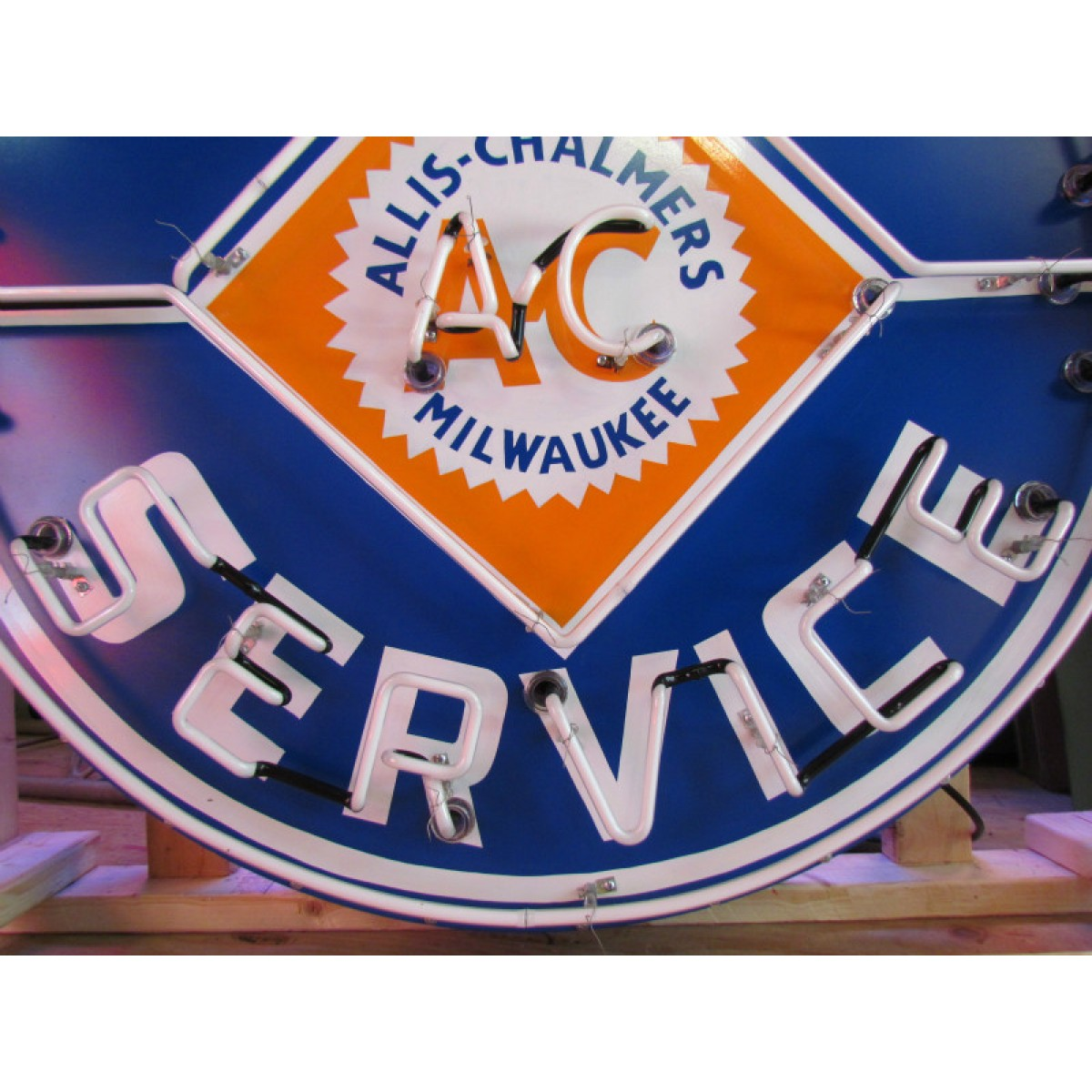 New Single-Sided Allis Chalmers Parts Service Neon Sign - 48