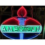 """Old American Porcelain Sign with neon 60""""W x 50""""H"""