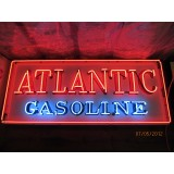 "New Atlantic Gasoline Neon Sign 72""W x 30""H"