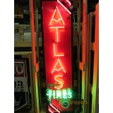 "New Atlas Tires Neon Sign 18""x 50"""