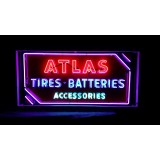 "New Atlas Tires Neon Sign - 72""W x 36""H"