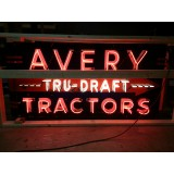 "New Avery Tru-Draft Tractors Neon Sign 72""W x 38""H"