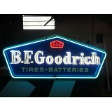 "New B.F. Goodrich Tires Batteries Neon Sign 60"" W x 26"" H"