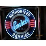 "Old Buick Valve in Head Sign with Neon 42"" Diameter - SSPN"