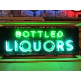"New ""Bottled Liquors"" Tin Neon Sign 72"" x 24"" - SSTN"