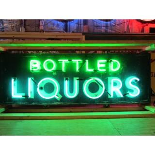"""New """"Bottled Liquors"""" Tin Neon Sign 72"""" x 24"""" - SSTN"""