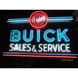 "New Buick Sales & Service Neon Sign 57""W x 48""H"
