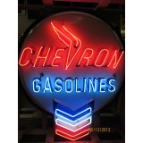 "New Chevron Neon Sign - 48"" Diameter x 60"" High"