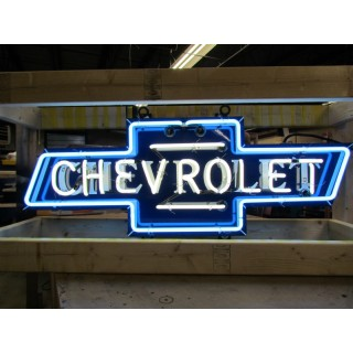"""New Chevrolet Bowtie Single-Sided Neon Sign 46""""W x 21""""H - SSN"""