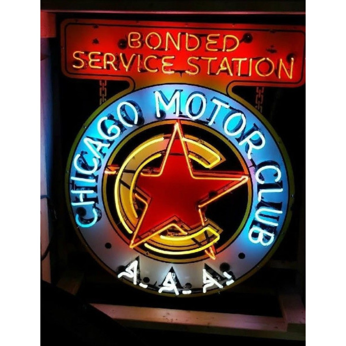 New chicago aaa neon sign 36 wide x 43 high ssn neon sign for Aaa motor club chicago
