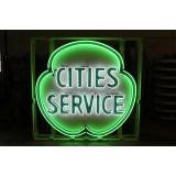 """New Cities Service Neon Sign 48"""" Diameter"""