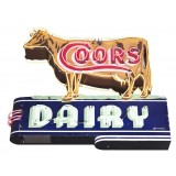 "New Double-Sided Coors Dairy Neon Sign 88"" Wide x 79"" High."