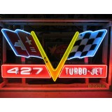 New Corvette 427 Turbo-Jet Neon Sign 8 FT Wide x 4 FT High