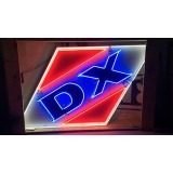 New DX Porcelain Sign with Neon 10 FT W x 5 FT H