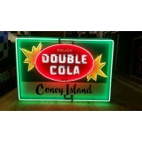 """Old Double Cola Sign with Neon 60"""" x 40"""" - SSN"""