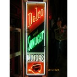 New Delco & Sunlight Motors Neon Sign - 18x72