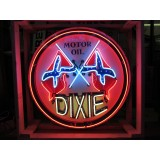 "New Dixie Motor Oil Neon Sign - 42"" Diameter"