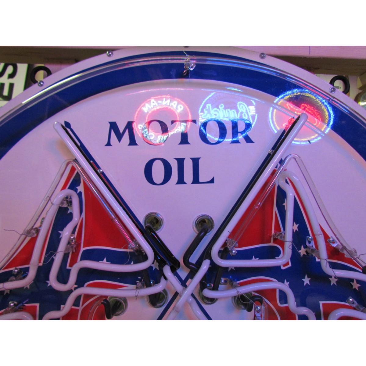 New dixie motor oil neon sign 42 diameter for How long does motor oil last