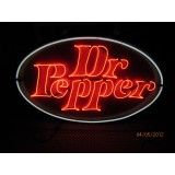 "New Dr. Pepper Neon Sign 58""W x 34""H"