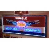 "New Esso Humble Aviation Animated Neon Sign 8 FT Wide x 38"" High."