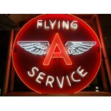 New Flying A Service Neon Sign