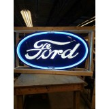"New Ford Oval Neon Sign 6 FT Wide x 36"" High"