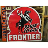 "New Frontier ""Raring To Go"" 72"" Single-Sided Keyhole Sign"