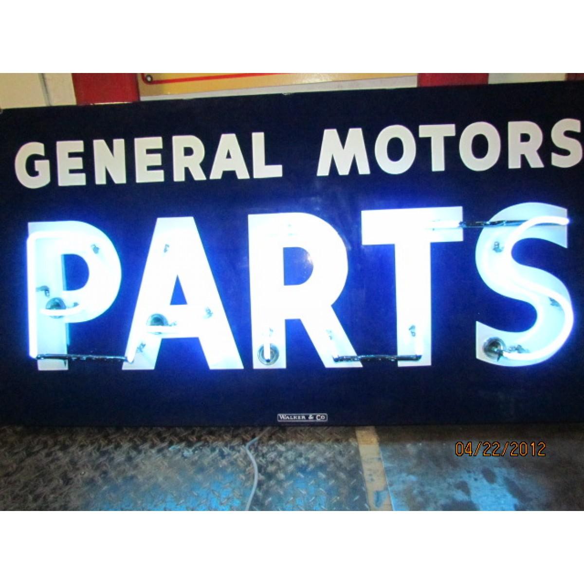 New General Motors Parts Neon Sign 58 X 30 H