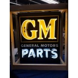 "New GM PARTS Painted Enamel Sign with Neon 33""W x 36""H - SSN"