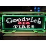 "Old ""Goodrich Tires"" Porcelain Neon Sign - 60"" x 20"""