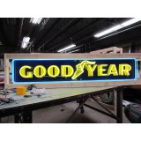 """New Goodyear Strip Painted Enamel Neon Sign - 8 FT Wide x 18"""" High - SSN"""