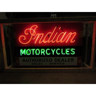 """New Indian Motorcycles Single-Sided Neon Sign with Your Name - 72""""W x 42""""H"""