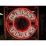 "New Single-Sided Kelly Tires Neon Sign - 48"" Diameter"