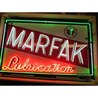 "New Texaco Marfak Lubrication Neon Sign 60""W x 36""H - 3 Color Neon"