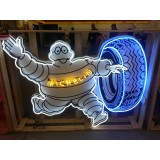 Michelin Man Painted Neon Sign 6 FT x 6 FT