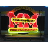 "New ""Minneapolis Moline"" Double-Sided Neon Sign 60""W x 42""H"