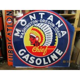 """New Montana Gasoline Single-Sided Sign 72""""D"""