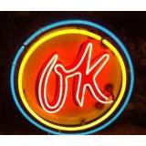 "New Chevrolet ""OK"" Neon Sign - 36"" Diameter"