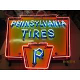 New Pennsylvania Tires Porcelain/Neon Sign - 6'x5'
