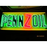 """New Pennzoil Neon Sign 58""""W x 23""""H"""
