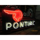 "New Black Pontiac Double-Sided Neon Sign 72"" x 36"""
