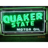 """New Quaker State Motor Oil Metal Neon Sign 70""""W x 40""""H"""