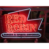 "Red Robin Restaurant Double-Sided Neon Sign 56"" Wide x 34"" High - DSN"