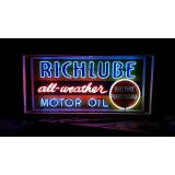 """New Richlube Single-Sided Neon Sign 60""""W x 42""""H"""
