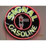 "New Signal Gasoline Neon Sign - 48"" Diameter"