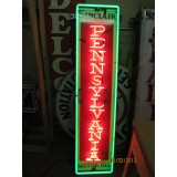 "New Sinclair Pennsylvania Motor Oil Vertical Neon Sign 60""H x 15""W"